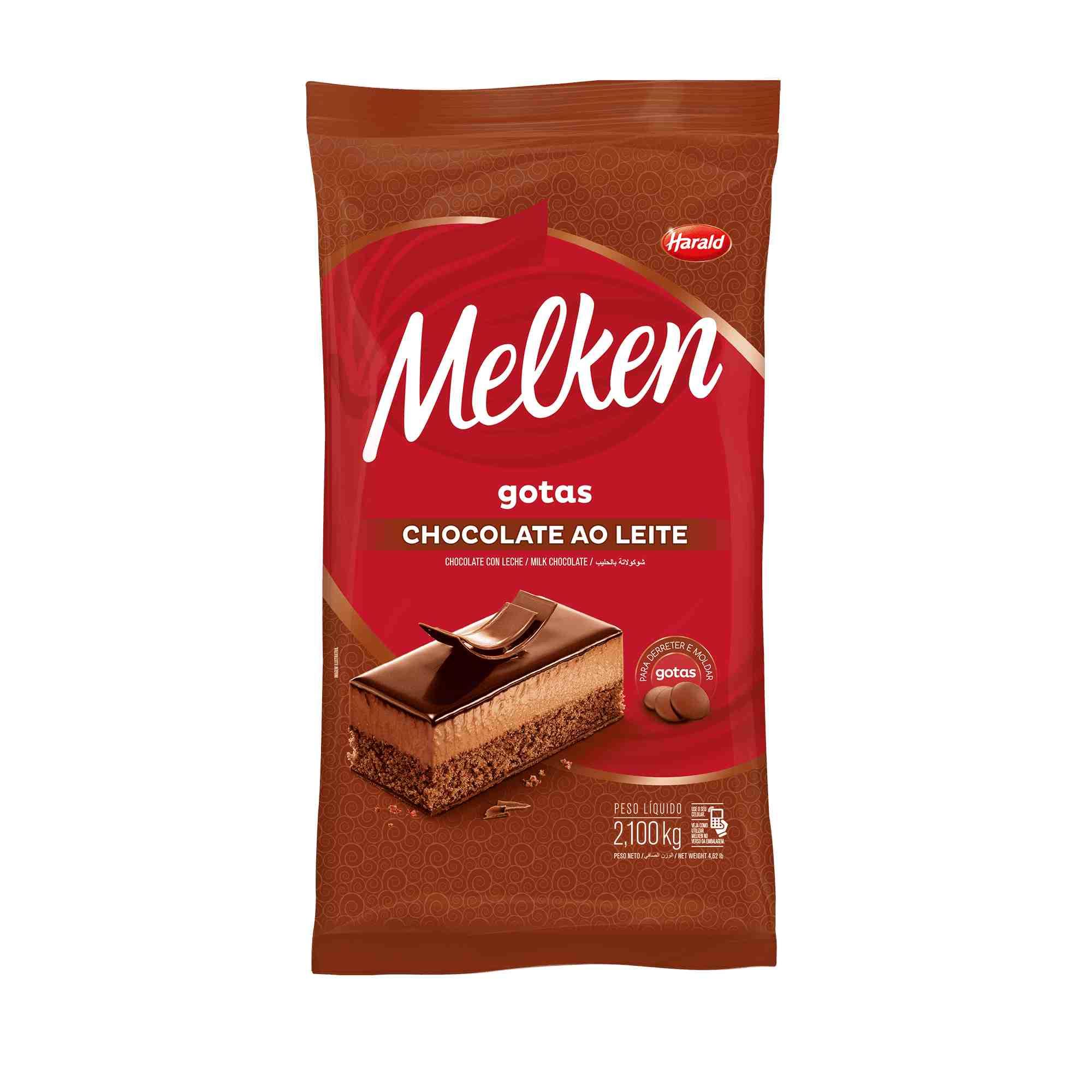 Chocolate ao Leite Gotas 2,1kg Melken Harald