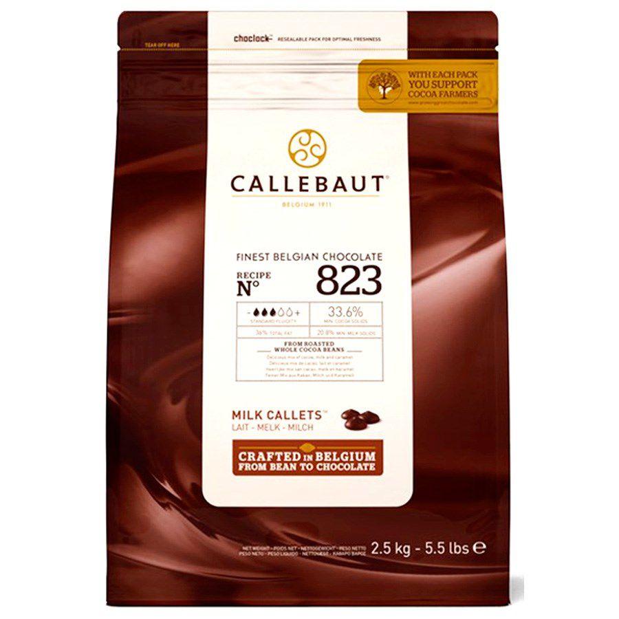 Chocolate ao Leite Gotas 823 33,6% Cacau 2,5kgKG Callebaut