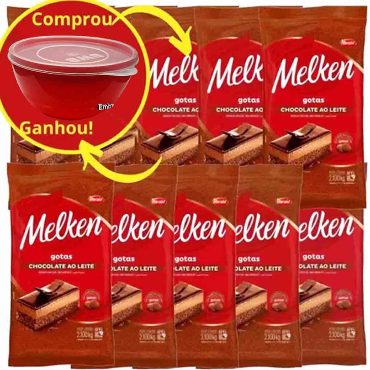 Chocolate ao Leite Harald Melken Gotas 2,1kg kit C/10
