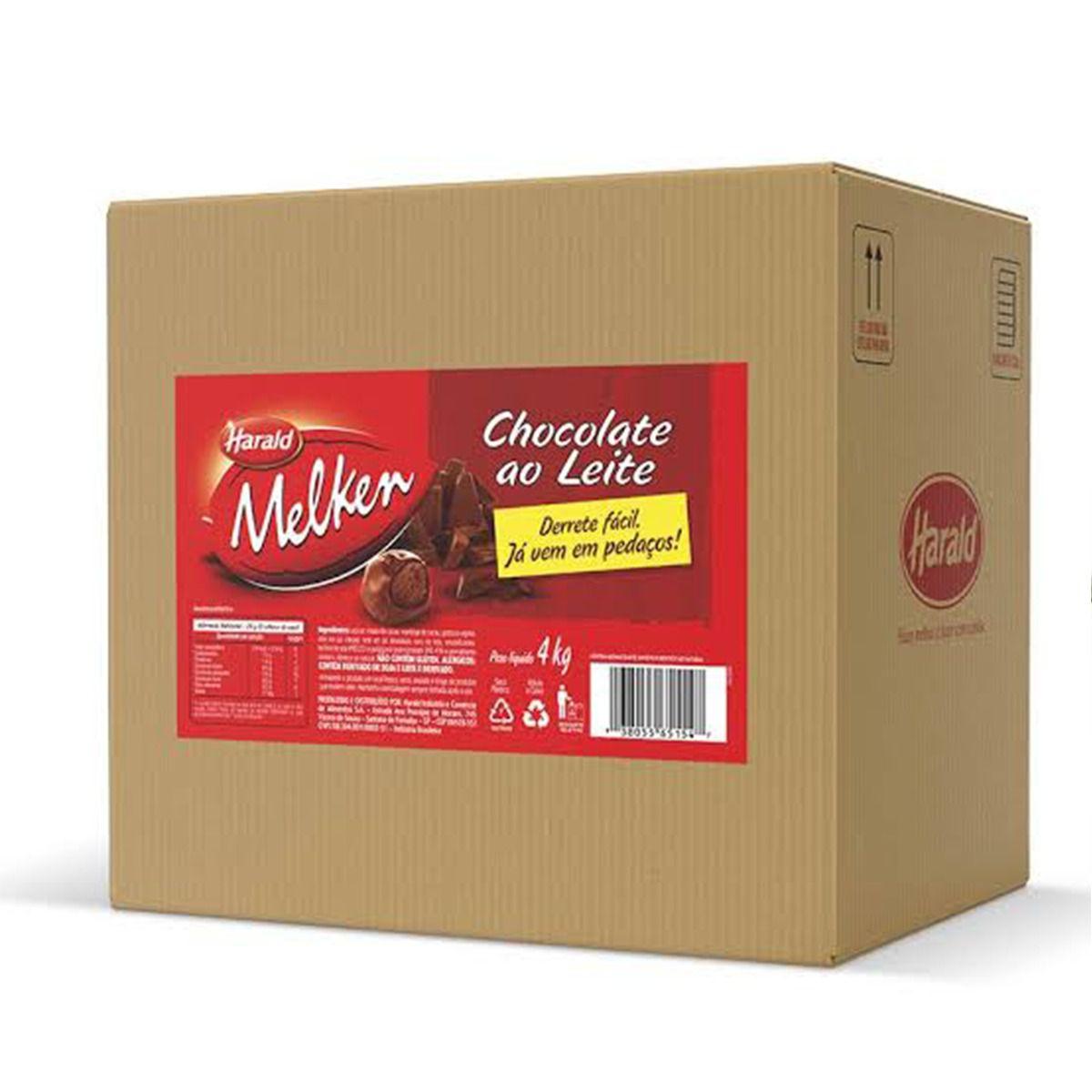 Chocolate Ao Leite Melken Filete 4kg Harald Para Derreter