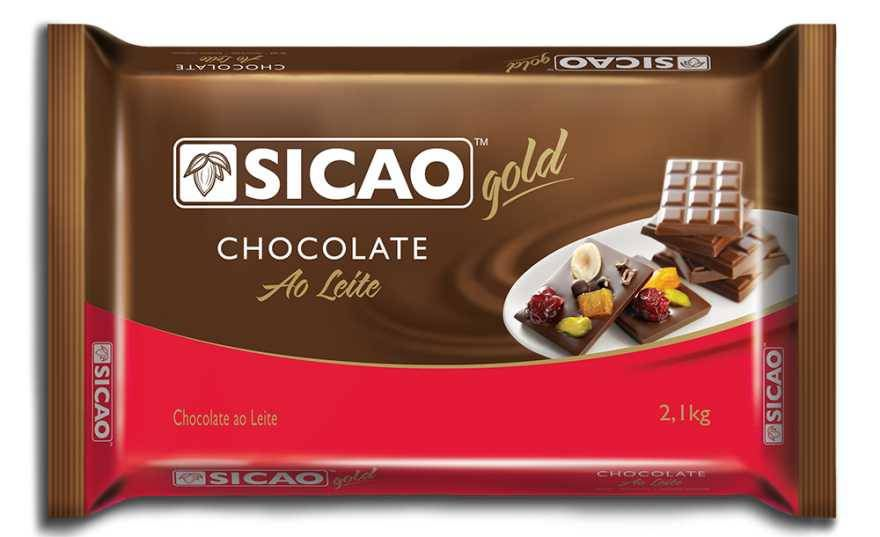 Chocolate Ao Leite Sicao Barra Gold 2,1kg