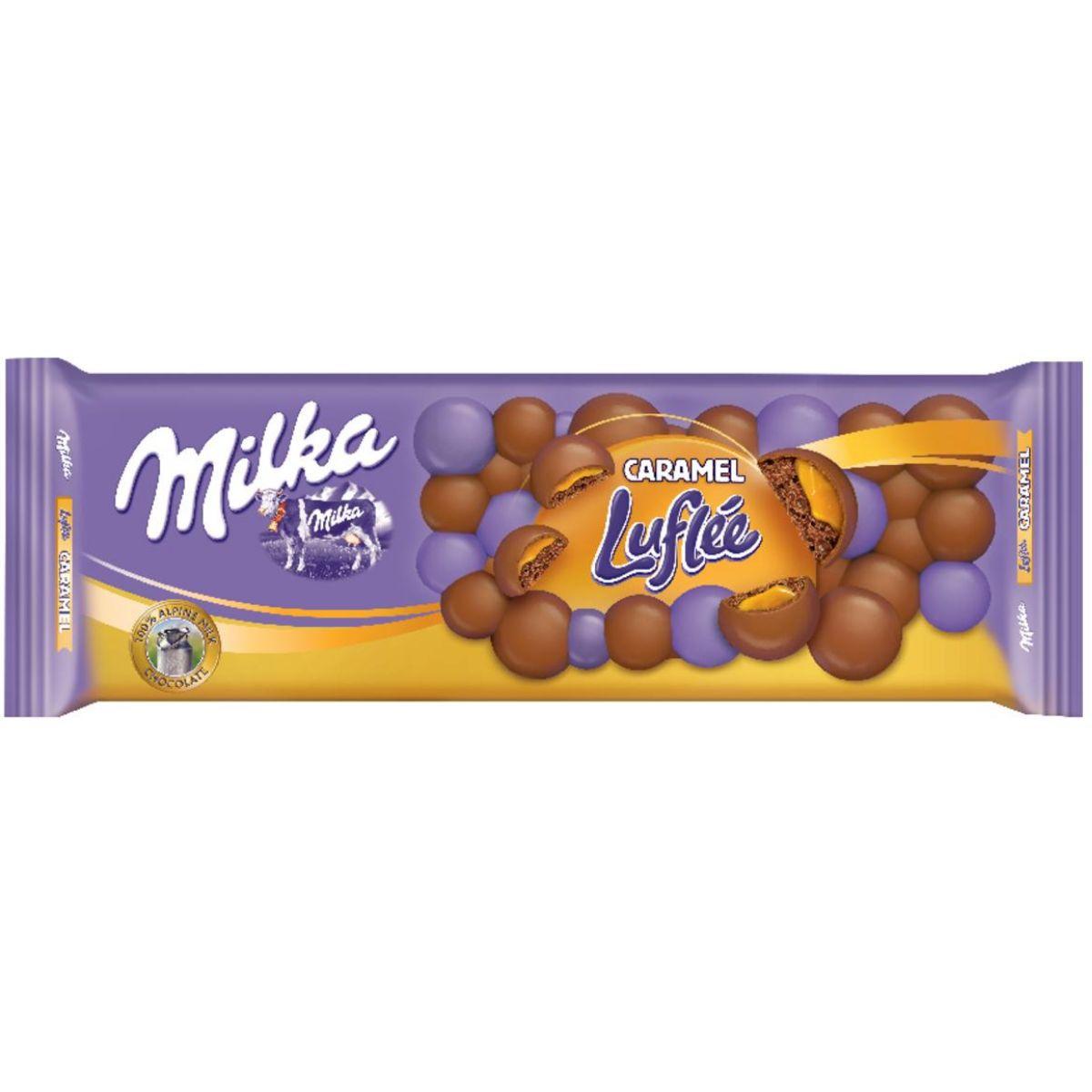 Chocolate Barra Milka Luflee Caramel 250g