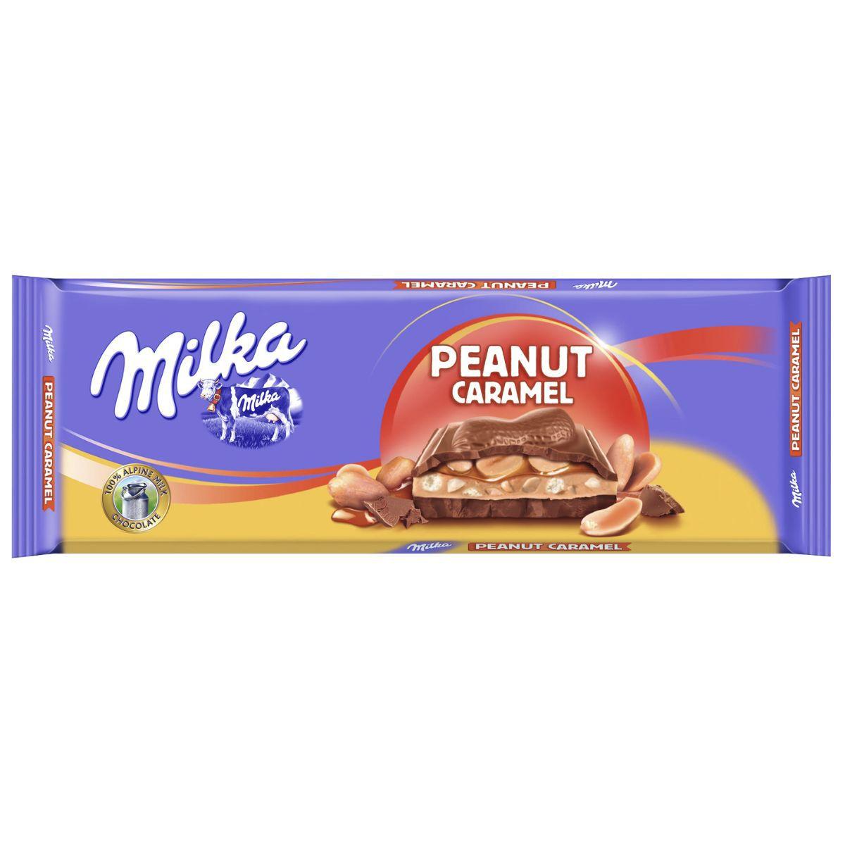 Chocolate Barra Milka Peanut Caramel 276G Importado