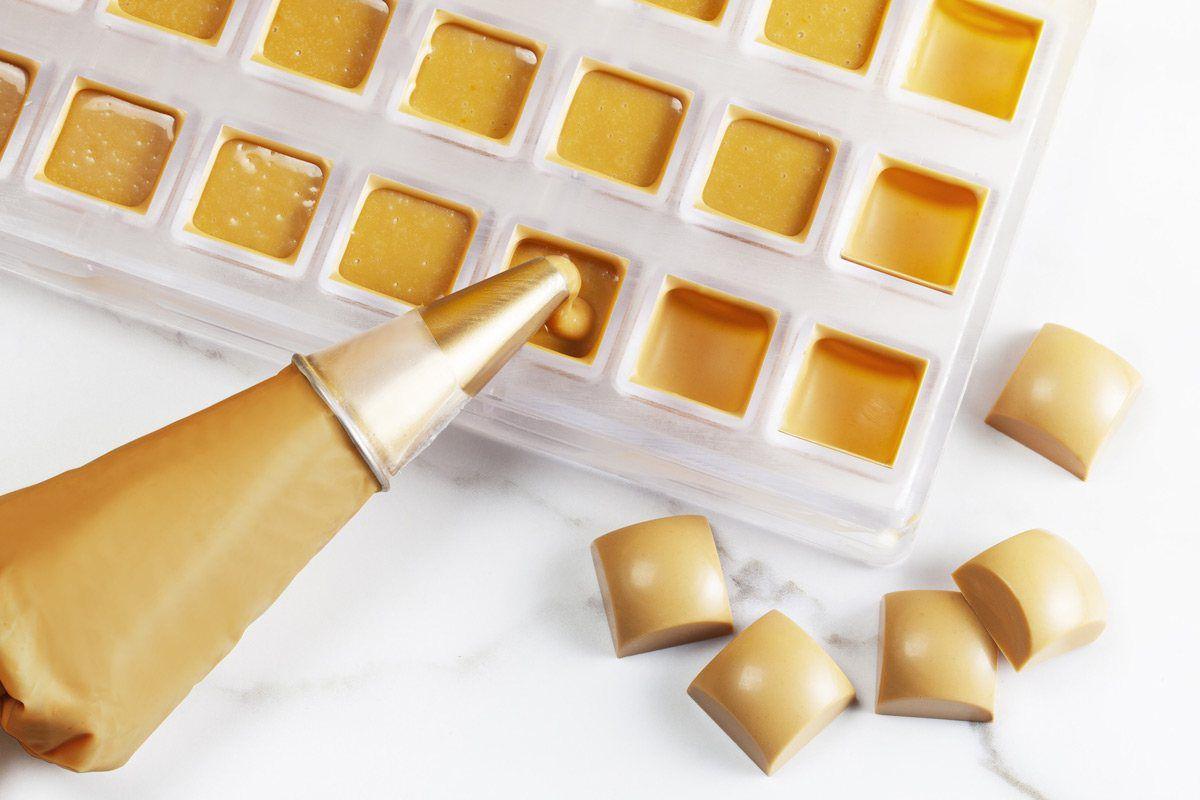 CHOCOLATE BELGA CALLETS CARAMELO GOLD (30,3% cacau) GOTAS 2,5kg  CALLEBAUT