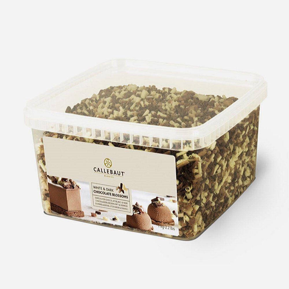 Chocolate Blossoms White Dark 1kg Callebaut