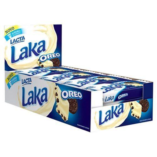 Chocolate Branco Laka Oreo Lacta Caixa 20x20g