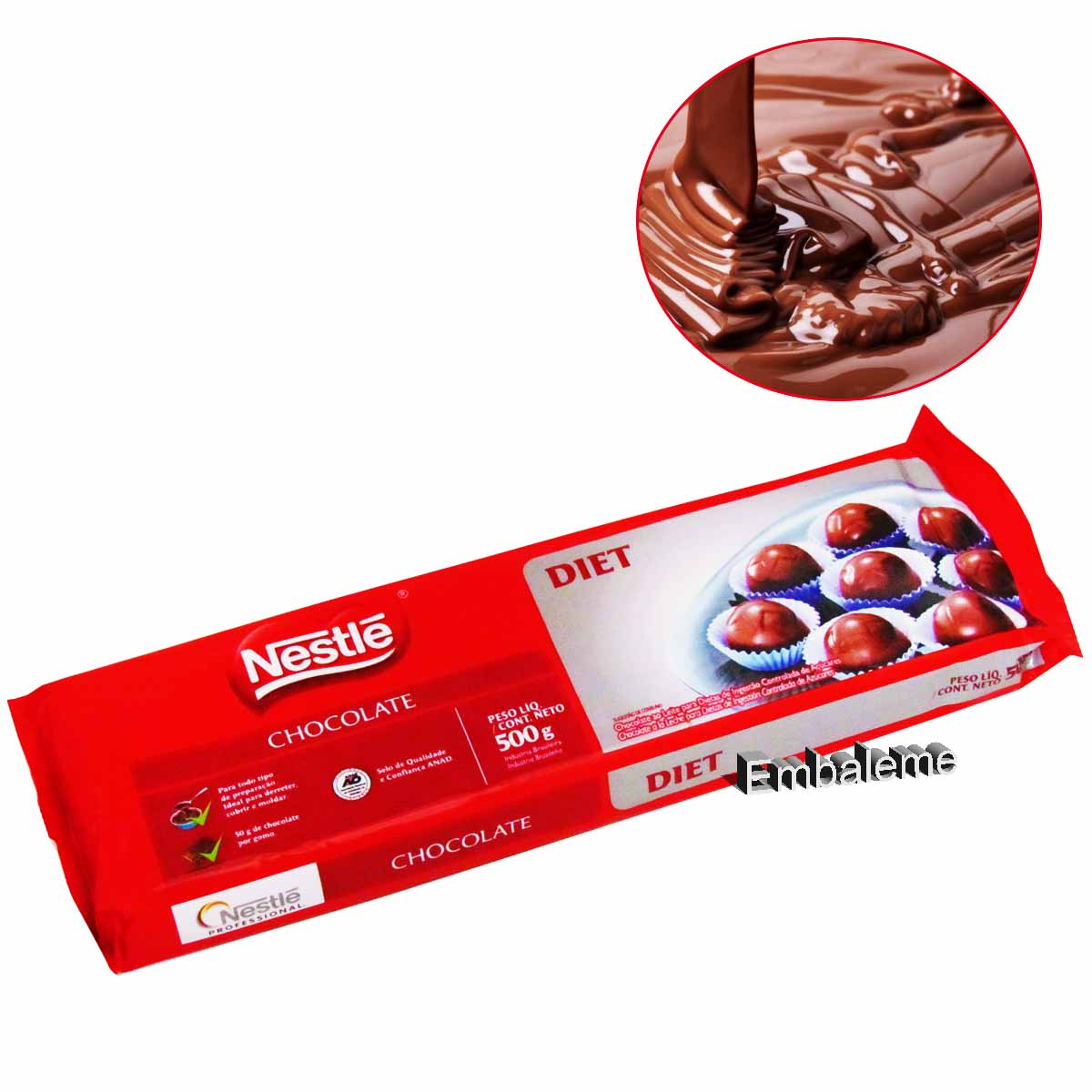 Chocolate Diet Ao Leite 500G Nestlé