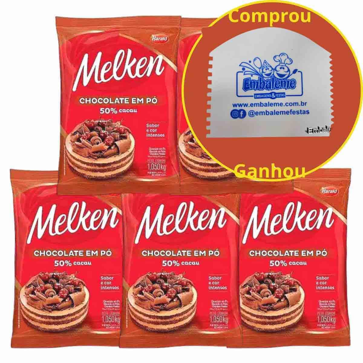 Chocolate em pó 50% cacau Harald Melken 1kg C/5