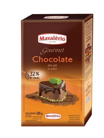 Chocolate em Pó Gourmet 32% cacau 200g Mavalério