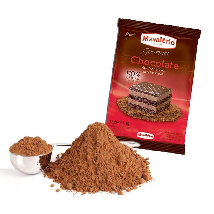 Chocolate Em Pó Solúvel 50% De Cacau Mavalério 1,01kg