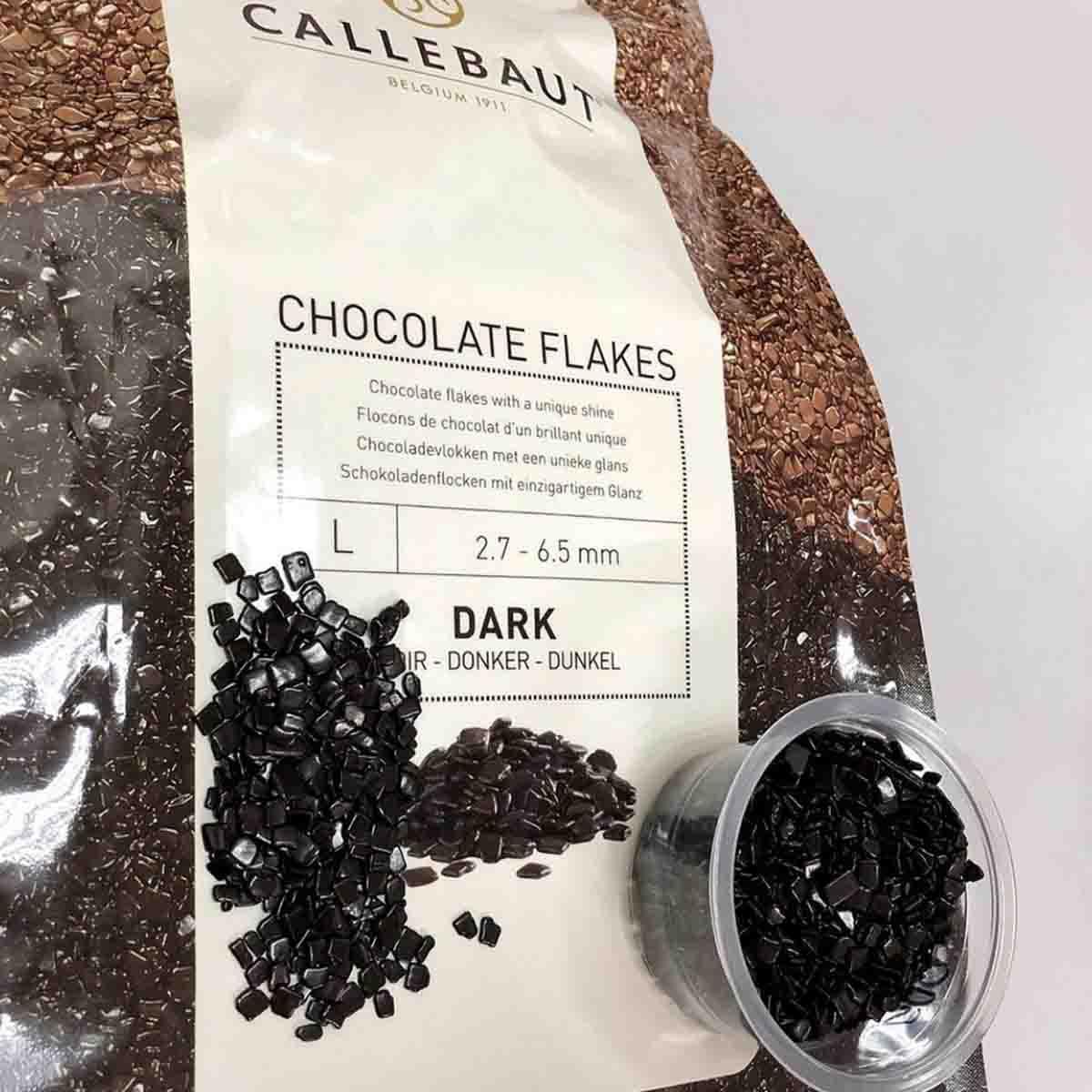 Chocolate Flakes Dark (Amargo) CALLEBAUT 1KG SPLIT-9-D-BR-U73