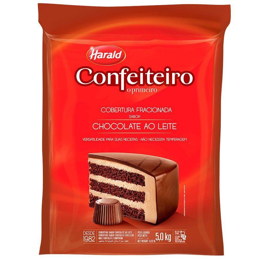 Chocolate fracionado Confeiteiro ao leite 5kg Harald