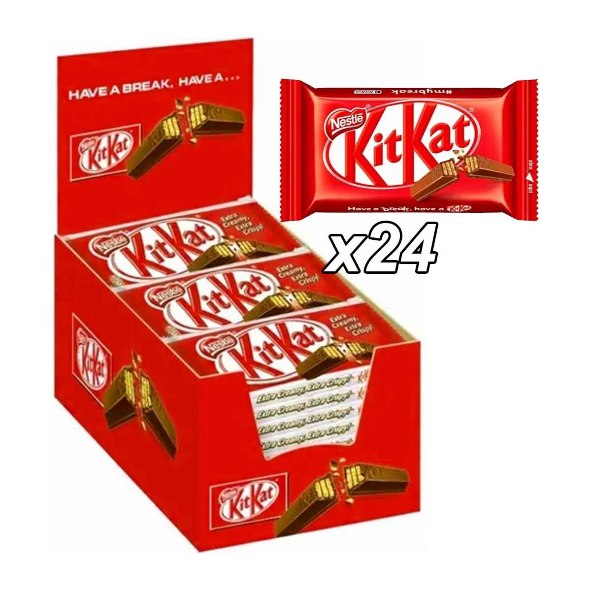 Chocolate Kitkat Clássico Nestlé Caixa 24x41,5g