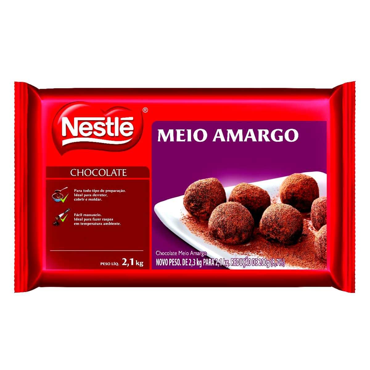 Chocolate Meio Amargo Nestle 2,1kg Barra