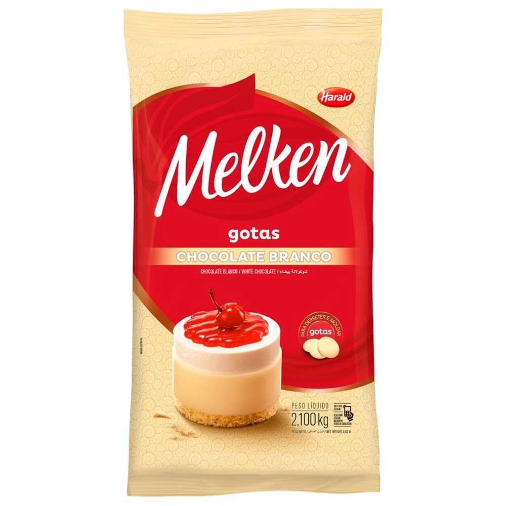 Chocolate Melken Gotas 2,1kg Harald Branco + Blend + Meio Amargo