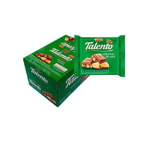 Chocolate Mini Talento Castanhas do Pará 15X25g - Garoto