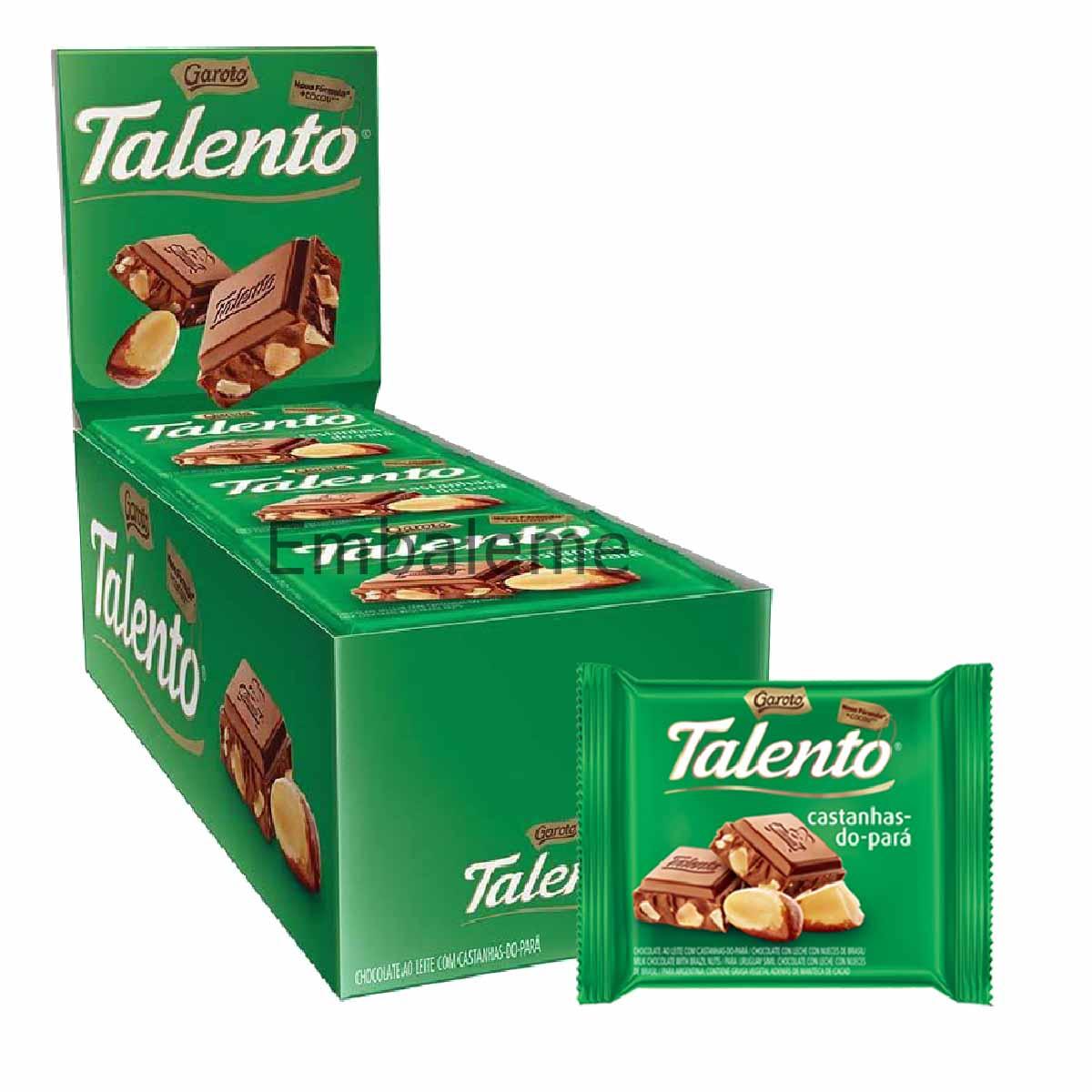 Chocolate Mini Talento Castanhas do Pará 25g Caixa C/15 Garoto