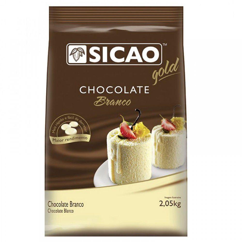 Chocolate Sicao Branco Gotas 2,05kg Sicao Gold