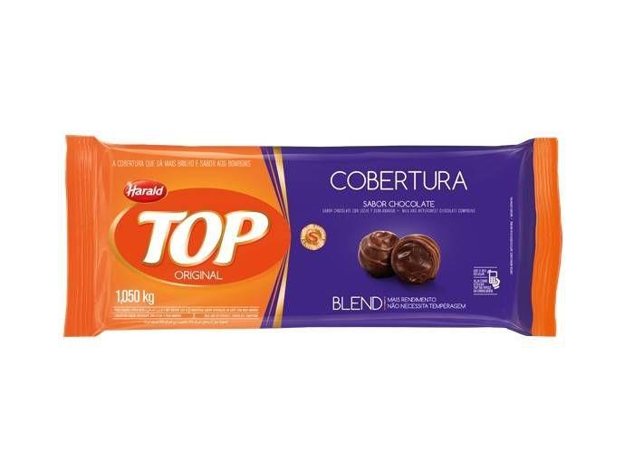 Cobertura  Fracionada sabor Chocolate Blend 1,05kg  Top Harald