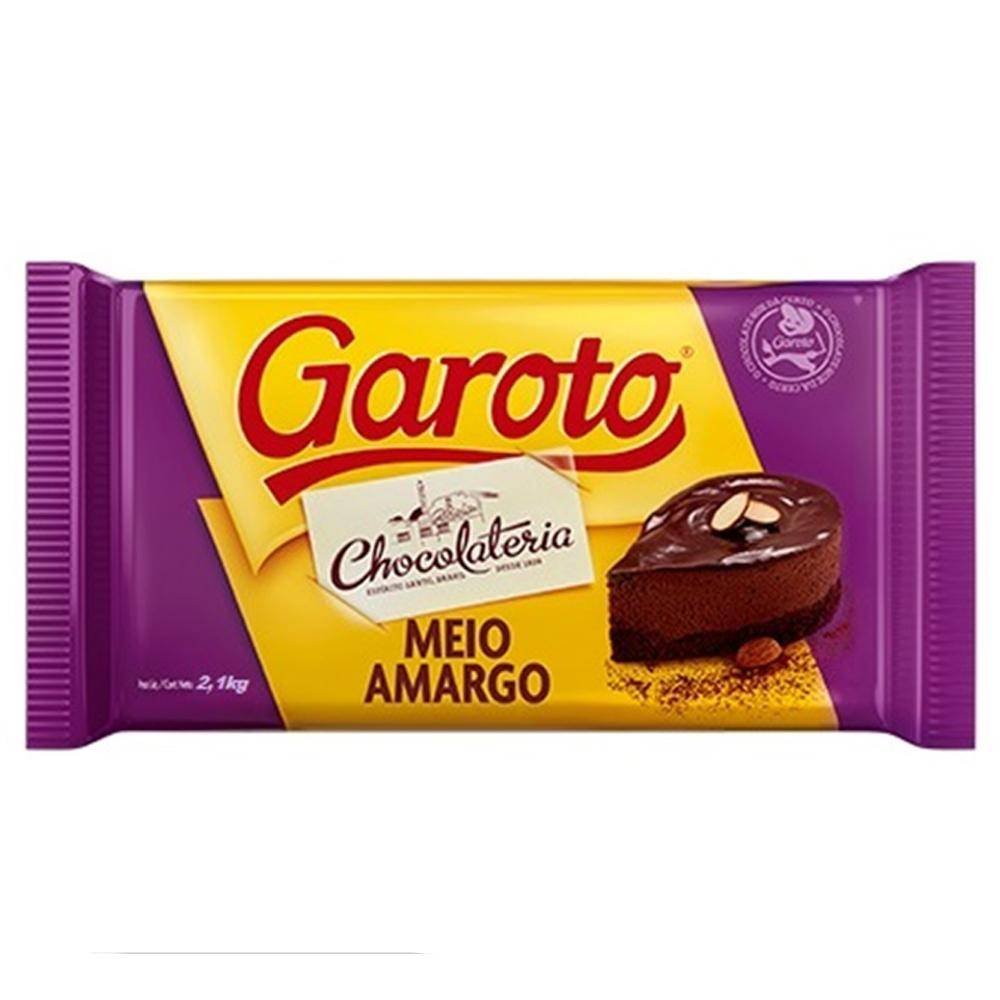 Chocolate Meio Amargo 2,1kg Garoto