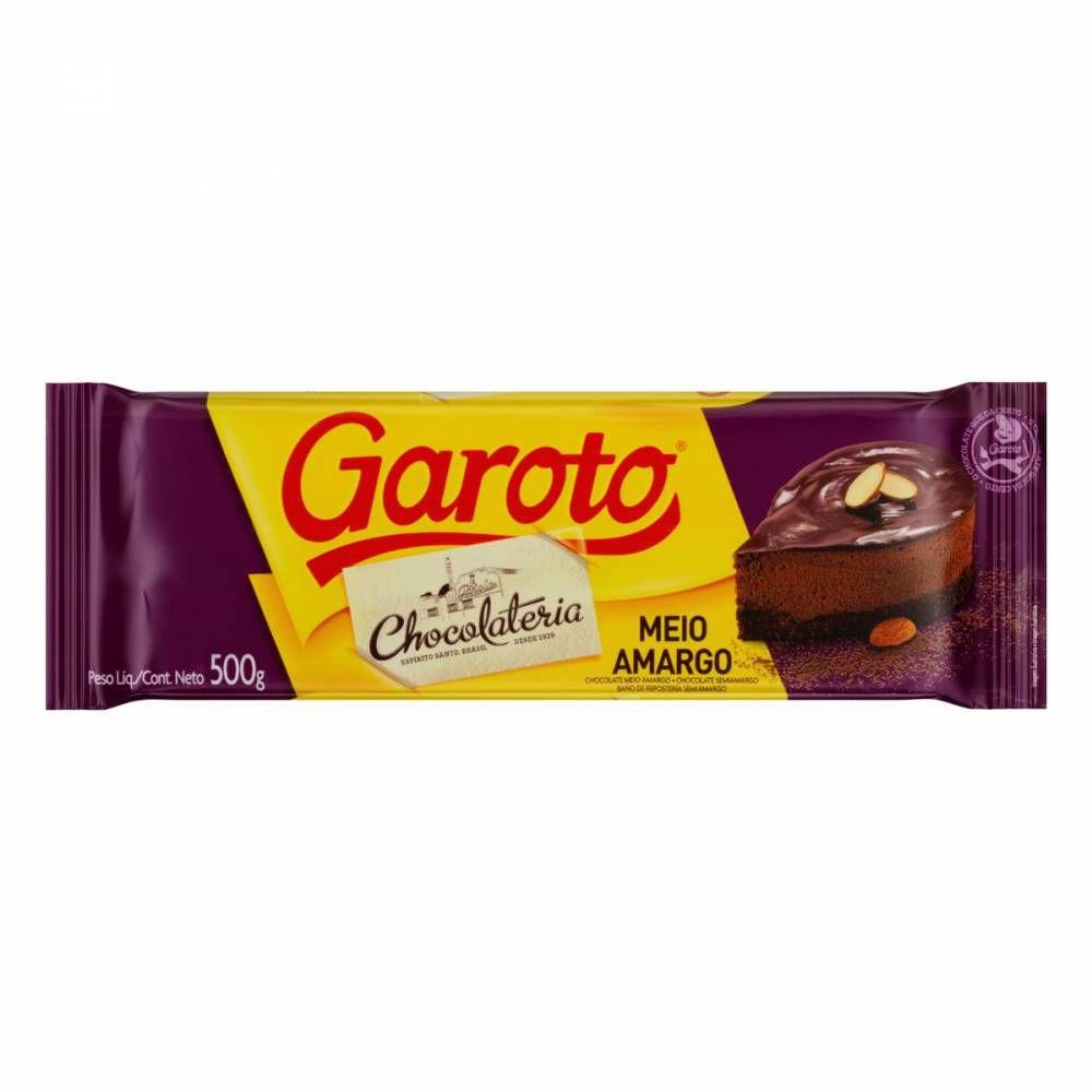 Chocolate Meio Amargo 500g Garoto