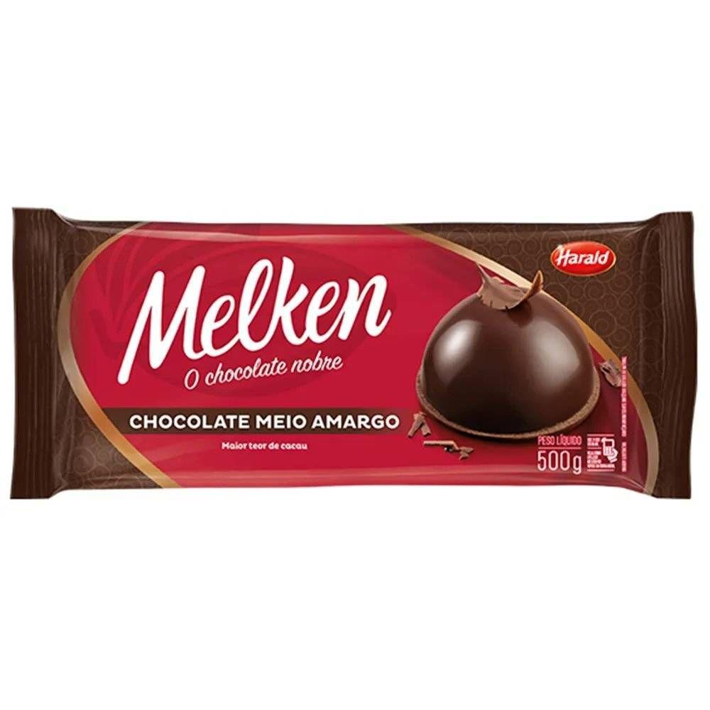 Chocolate Meio Amargo 500g Melken Harald