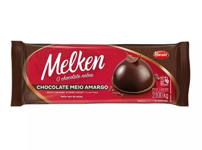Chocolate Meio Amargo  2,1kg Melken Harald