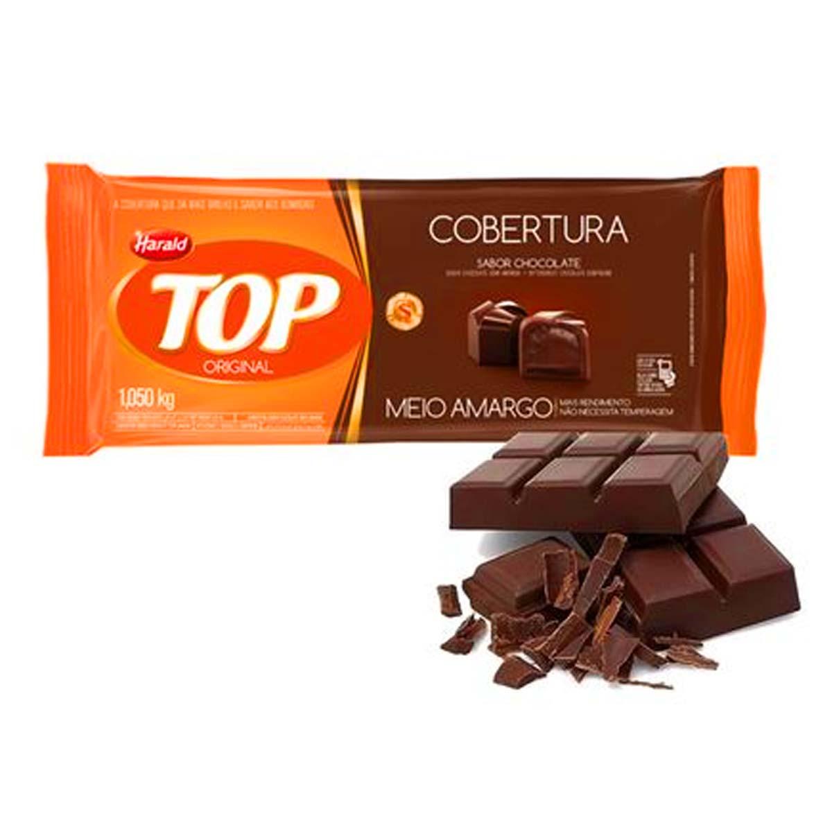 Cobertura Chocolate Meio Amargo Top 1,050 kg Harald