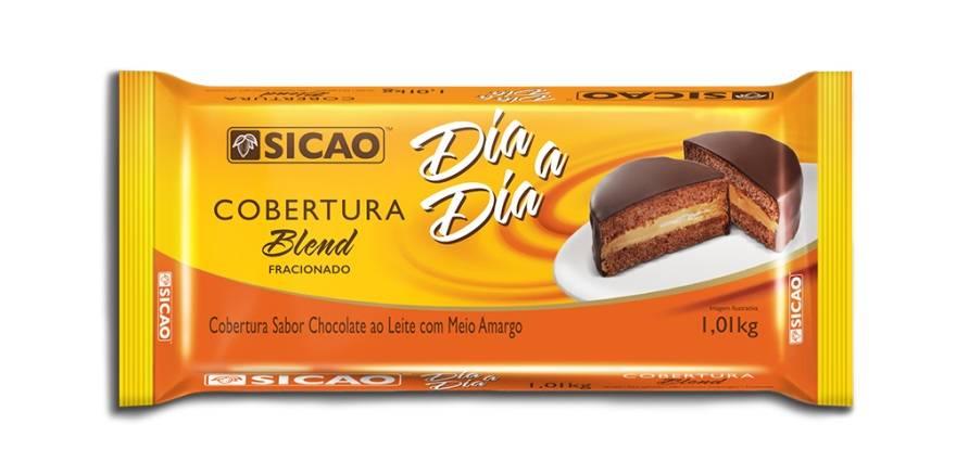 Cobertura de Chocolate Fracionado Blend 1,01kg Sicao Barra Dia a Dia