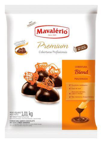 Cobertura Fracionada Blend sabor Chocolate Gotas 1,01kg Mavalério Premium