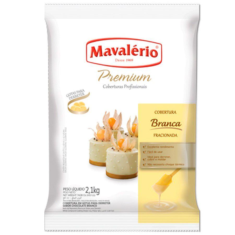 Cobertura Fracionada Branca sabor Chocolate Branco Gotas 2,01kg Mavalério Premium