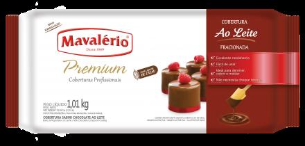 Cobertura Fracionada sabor Chocolate Ao leite 1,01kg Mavalério Premium