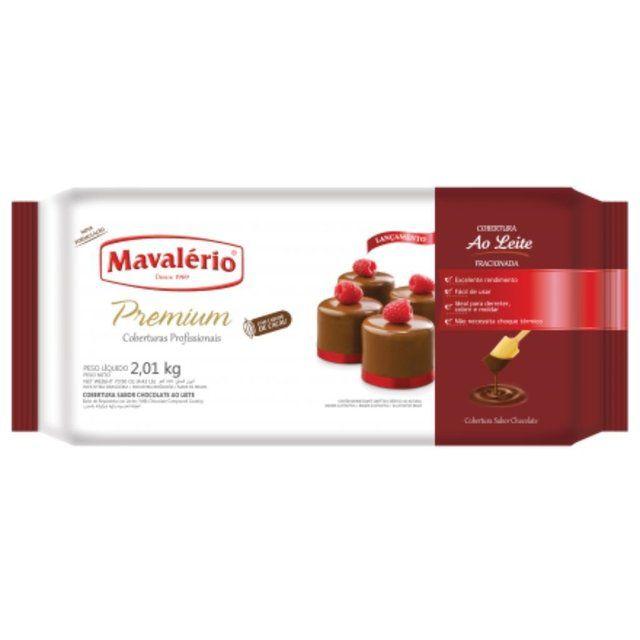 Cobertura Fracionada sabor Chocolate Ao leite 2,01kg Mavalério Premium