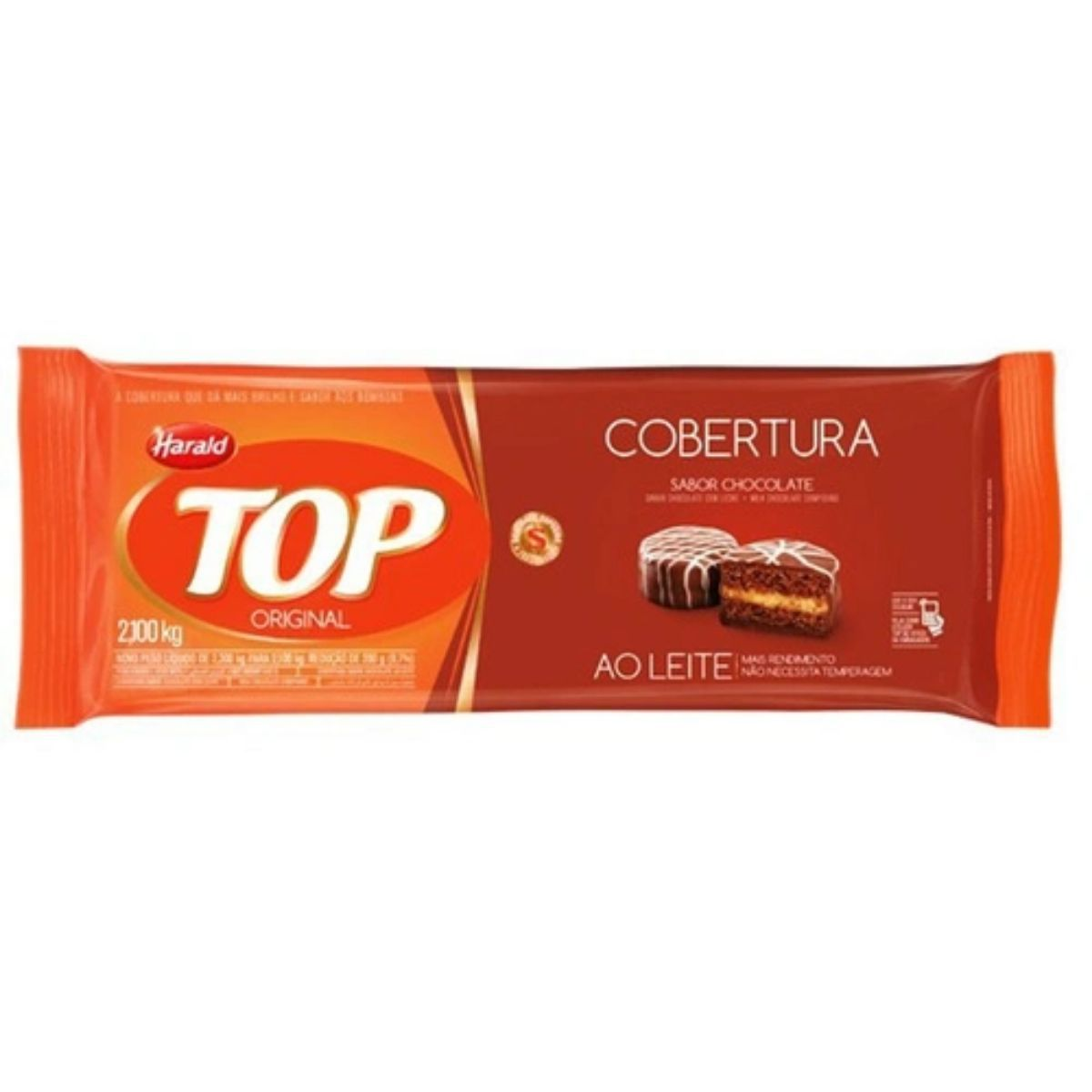 Cobertura Fracionada sabor Chocolate Ao Leite 2,1 kg Top Harald