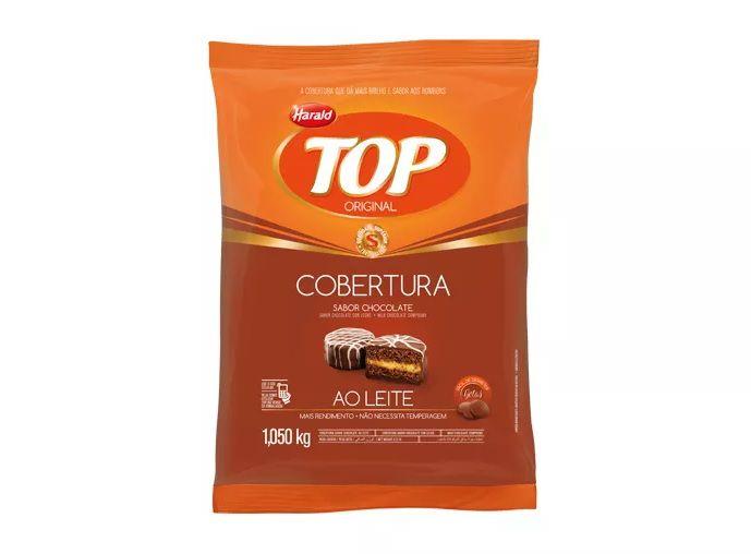 Cobertura Fracionada sabor chocolate ao Leite Gotas 1,05 kg Top Harald