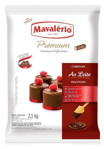 Cobertura Fracionada sabor chocolate Ao Leite gotas 2,01kg Mavalério Premium