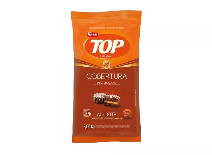 Cobertura Fracionada sabor Chocolate Ao Leite Gotas 2,1 kg Top Harald