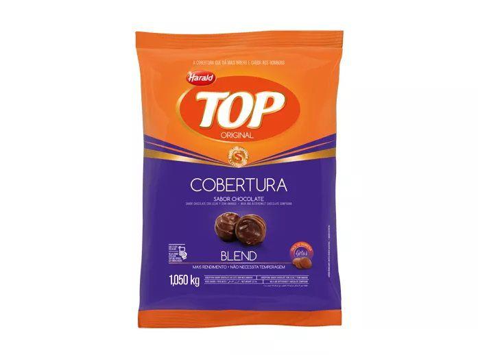 Cobertura Fracionada sabor chocolate Blend Gotas 1,05 kg Top Harald