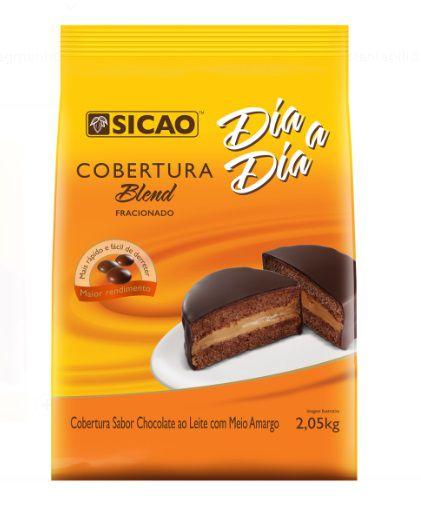 Cobertura Fracionada sabor chocolate Blend gotas 2,05kg Sicao Dia a dia