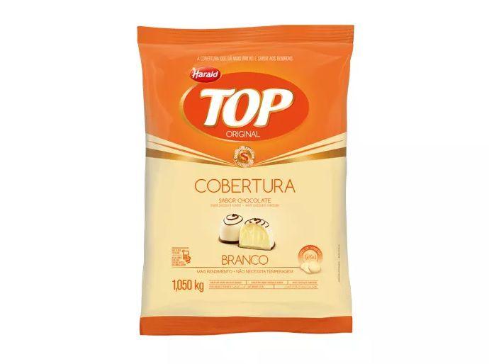 Cobertura Fracionada sabor chocolate Branco Gotas 1,05 kg Top Harald