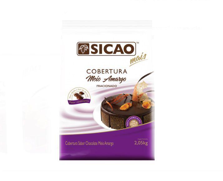 Cobertura Fracionada sabor chocolate Meio Amargo gotas 2,05 kg Sicao Mais