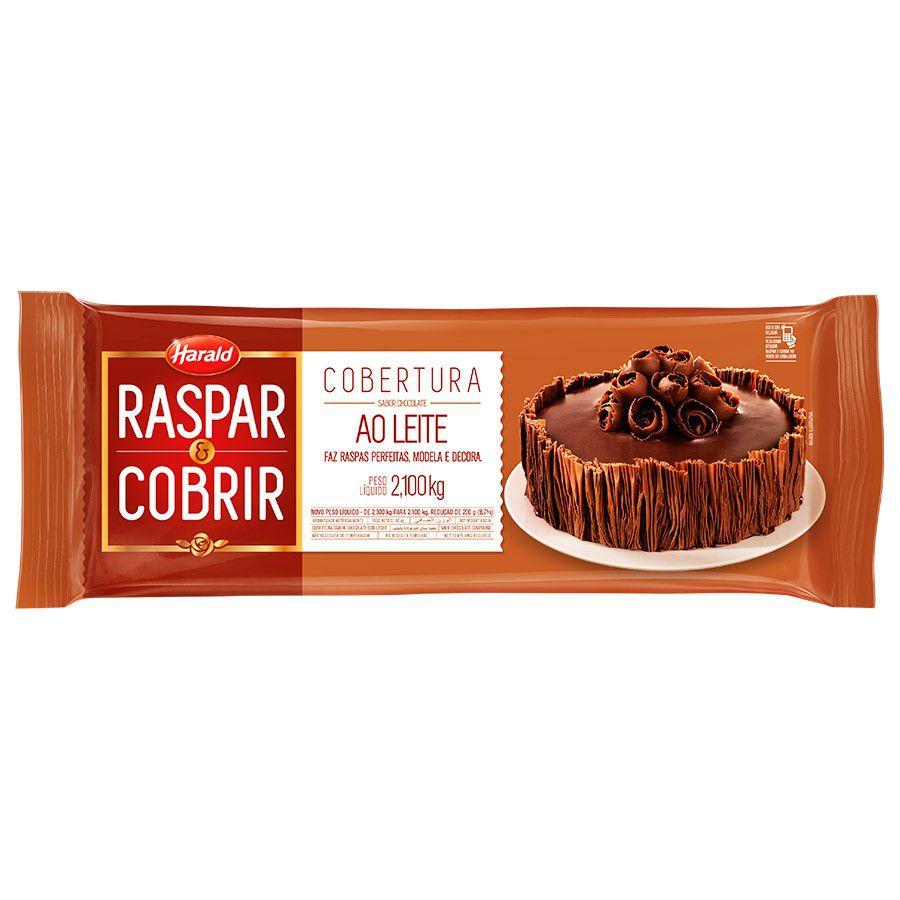 Cobertura Raspar & Cobrir sabor chocolate ao Leite Barra 2,1 kg Harald