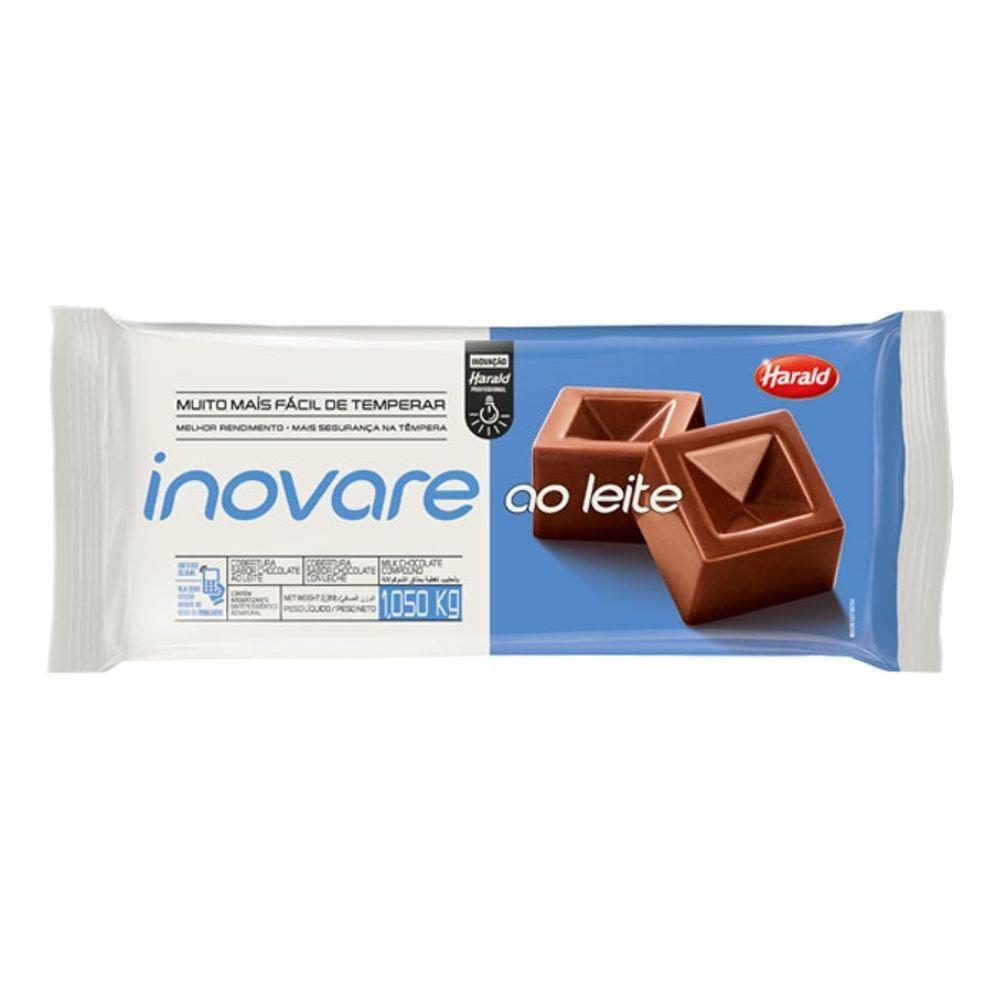 Cobertura sabor Chocolate ao Leite Barra 1,05 kg Inovare Harald