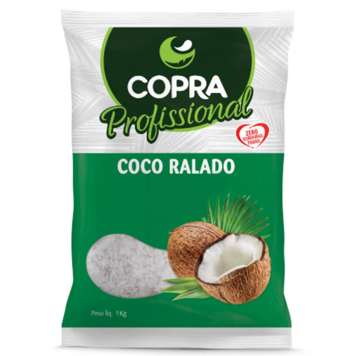 Coco Ralado Fino 1kg Copra Profissional