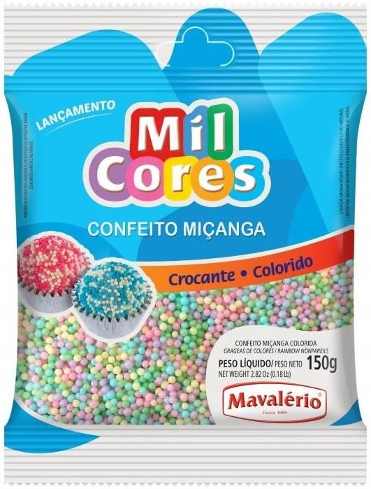 Confeito Miçanga Colorida Baby N.0 Mil Cores Mavalerio 150g