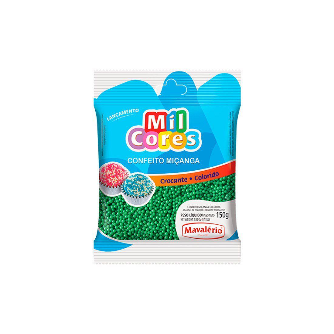 Confeito Miçanga Verde N.0 Mil Cores Mavalério 150g
