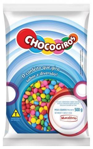 Confete Mini Pastilhas Chocogiros 500g Mavalério
