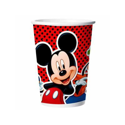 Copo Papel 180ml Mickey Classico C/8 REGINA