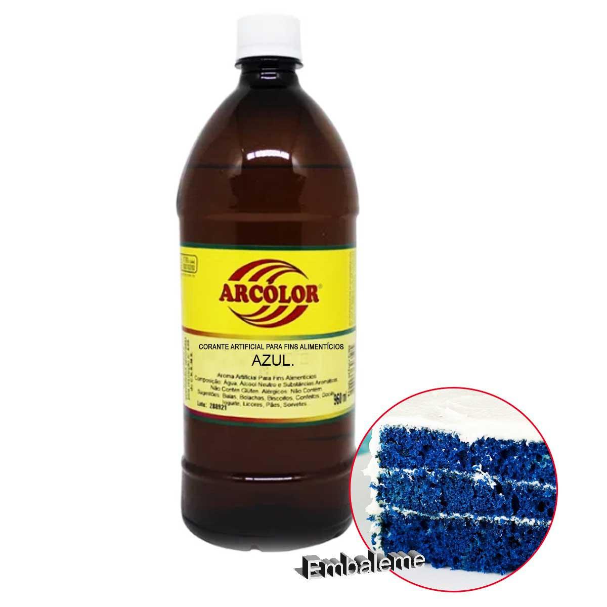 Corante alimentício líquido Azul 960ML Arcolor