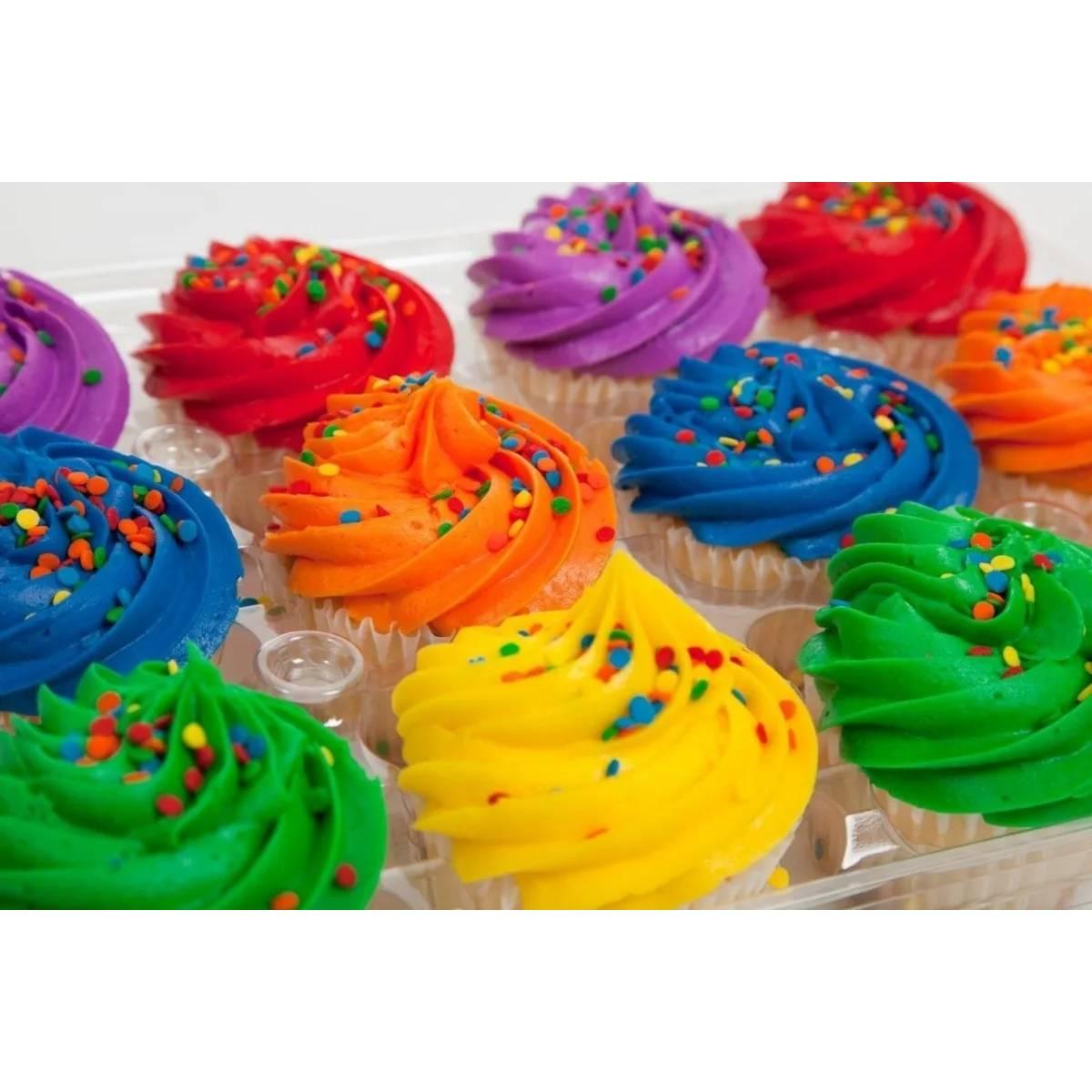 Corante Mago Comestível Soft Gel Para Cupcake E Bolo C/20 Un